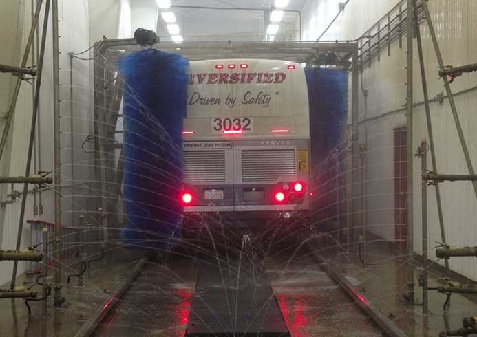 Vaskeanlæg til bus fra NoviClean