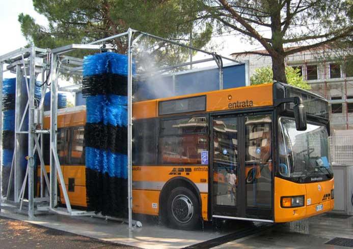Mobile vaskeanlæg til busser fra NoviClean