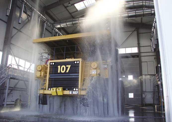 Vaskesystem til store køretøjer