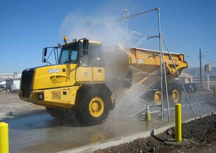 Mobilt vaskeanlæg til special køretøjer fra NoviClean