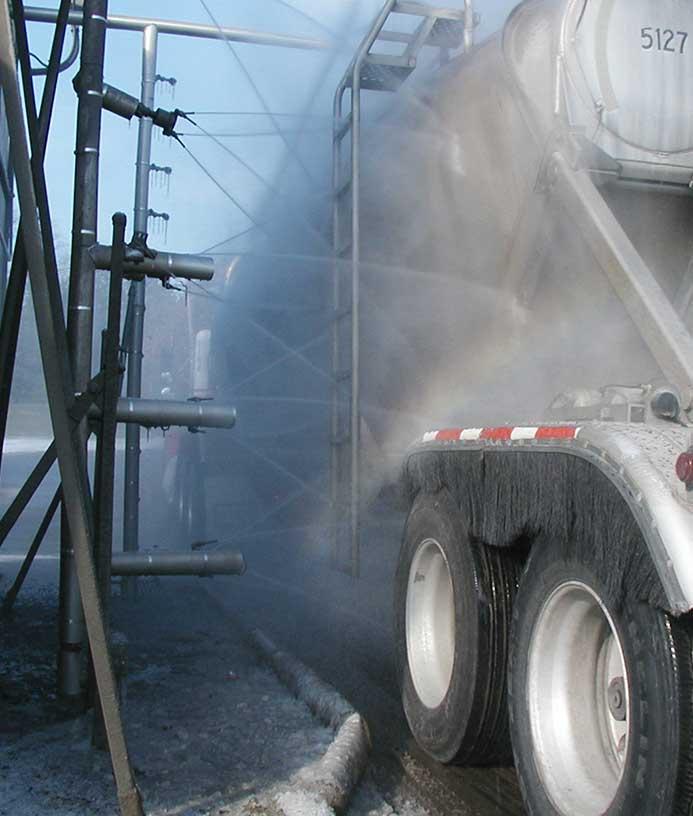 Mobile vaskeanlæg til lastbiler fra NoviClean