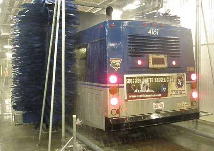 Vaskesystem til busser fra NoviClean
