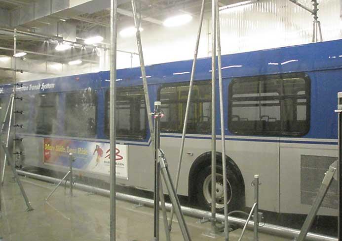 Vaskeanlæg til busser fra NoviClean