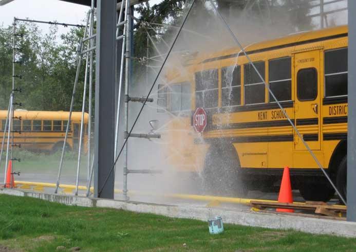 Mobilt vaskeanlæg til busser fra NoviClean