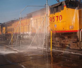 Skræddersyet vaskeanlæg til toge