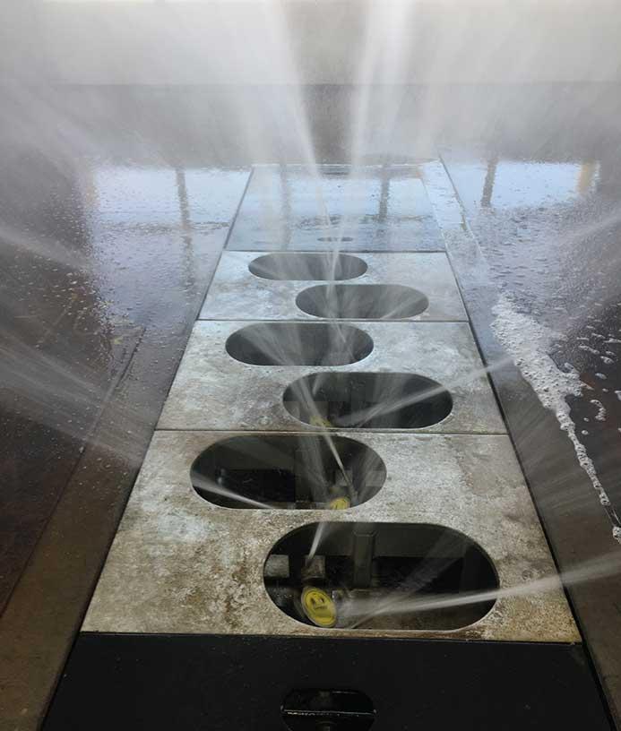 Hjulvasker med undervognsvask - Hjulvaskeanlæg - NoviClean