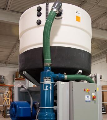 Vaskeanlæg med vandgenanvendingsanlæg